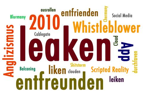 Anglizismus des Jahres 2010 Wörterwolke