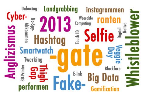 Wörterwolke Anglizismus des Jahres 2013