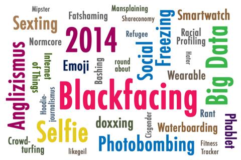 Wörterwolke Anglizismus 2014