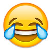 Emoji: Gesicht mit Lachtränen