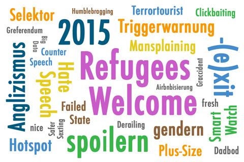 Wörterwolle zum Anglizismus des Jahres