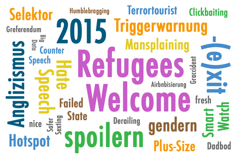 Wörterwolke Anglizismus 2015
